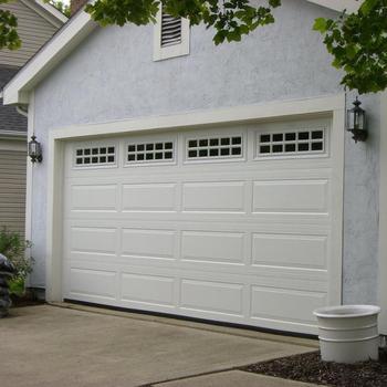 Security Commercial Steel Garage Door With Top Window For House