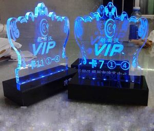 Wholesale edge lit led acrylic base for poster/menu/picture acrylic lighted up base RGB led base with remote control