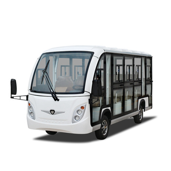 14 seats zero emission electric tourist bus with enclosed hard door