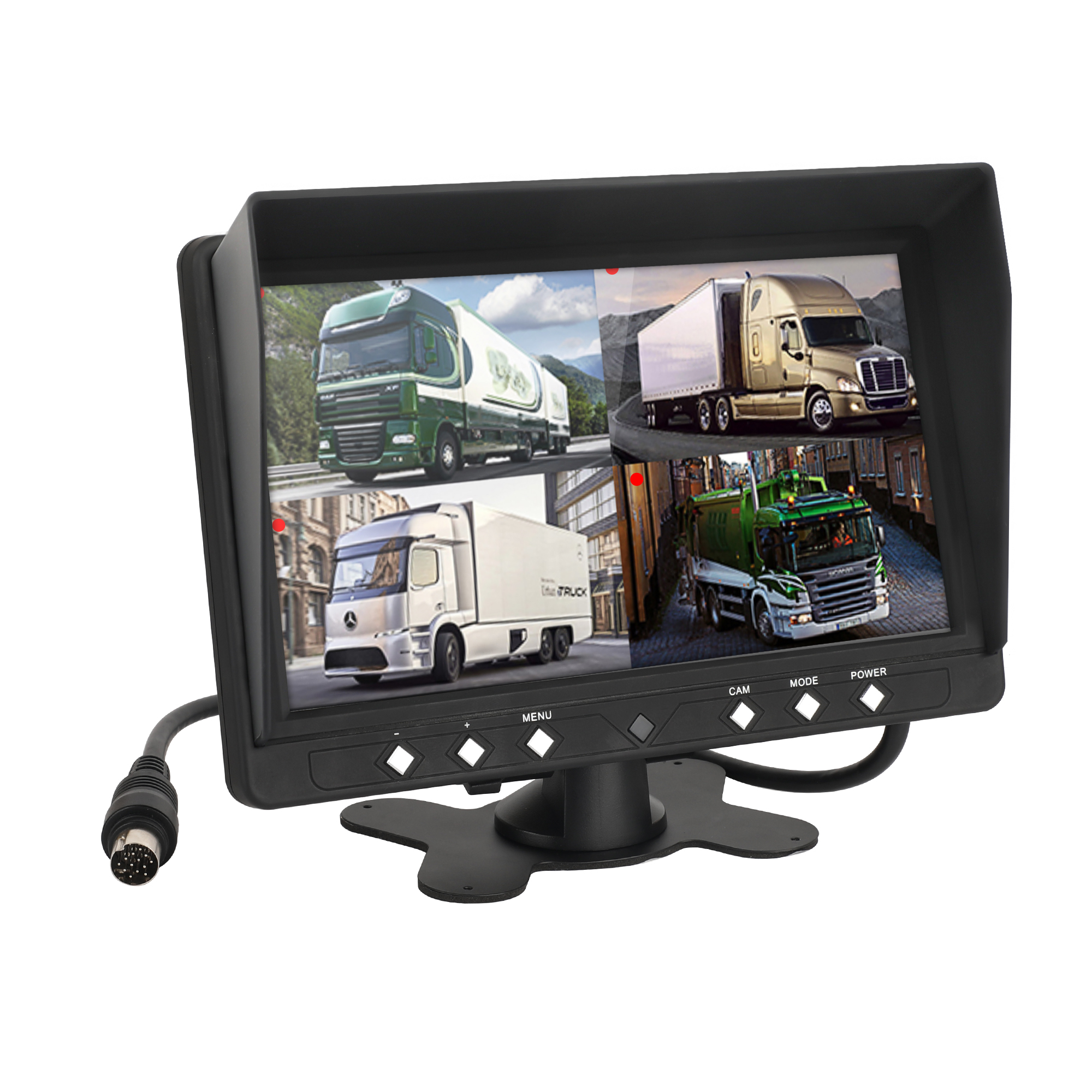 CL-9204F Big Car 9 inch <strong>4</strong> Channel LCD Car Monitor