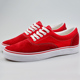 Fashion Beautiful Red Breathable Soft Suede Leather Canvas Shoes Women Sneaker