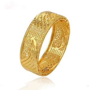 51349 xuping imitation jewellery brass material golden india design wedding  bangle for women