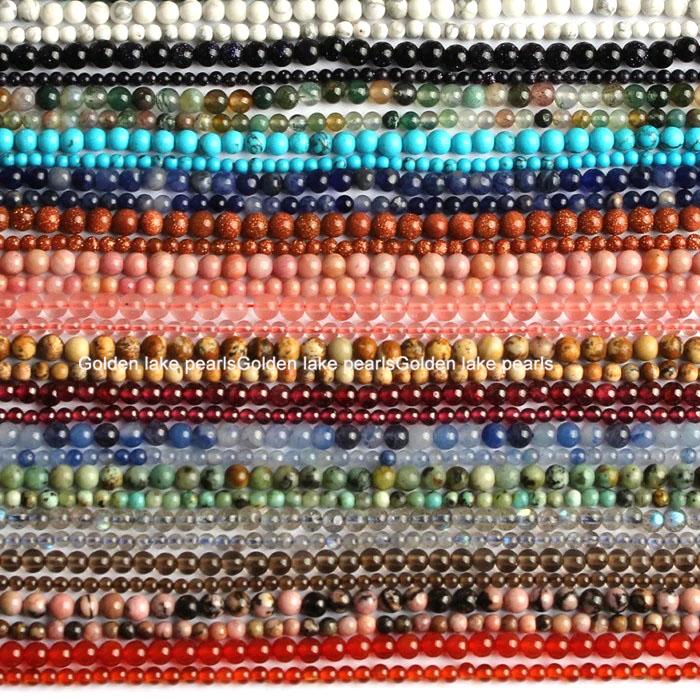 Rich Design Labradorite Agates Tiger Eye Quartz Plain Round Gemstone Loose Beads 2mm 3mm