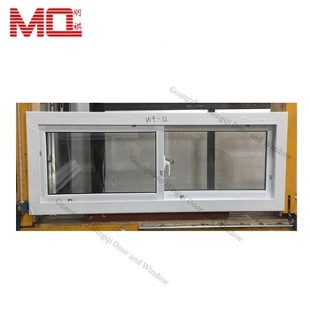 Top sale pvc/plastic double glazed tempered glass windows for buildings
