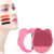 USB rechargeable sonic facial cleansing brush silicone facial cleaner with mirror