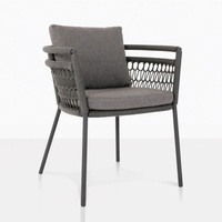 New Design Outdoor Luxury Rope Woven Deep Seating Dining Chair