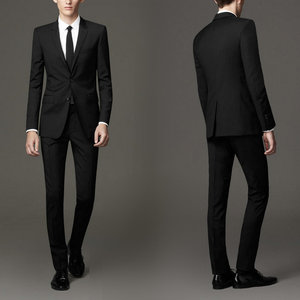 OEM high quality black grey coat pant design men office suit for spring and summer
