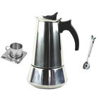 Stainless Steel Percolator Italian Espresso Coffee Maker Stovetop Espresso Maker Moka Pot Coffee