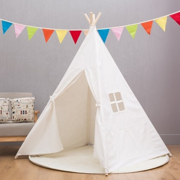Teepee Tent for Kids, Indoor & Outdoor Kids Toy Tent , Children tent White Kids Camping tent with Window