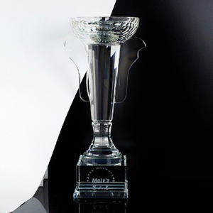 Nice Personalized Cheap Football Crystal Prize Glass Soccer Trophy Award Custom Design Logo