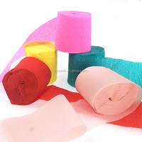 Custom Colorful Crepe Paper Streamer for party