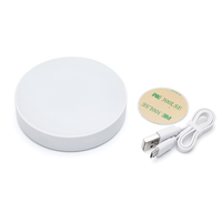 LOW MOQ Two Modes Round USB Rechargeable Home Cabinet Sensor Touch LED Lamp With 3M For Night Lighting