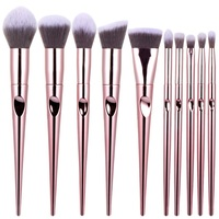 Hot Selling 10 Pcs New Face Makeup Brush Supplier High Quality Customer Logo Makeup Brushes