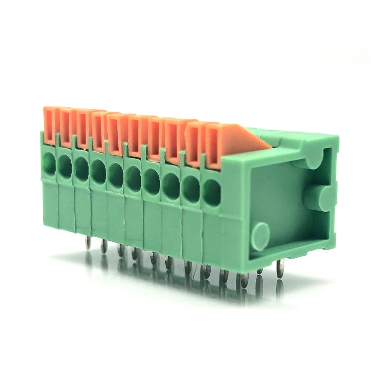 141R-2.54mm pitch pcb spring clamp terminal block