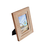 Home Decoration Coarse Wood boy and girl brown line photo frame