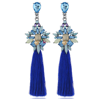 Fashionable Jewelry Crystal alloy rhinestone earrings drop tassel earrings for women