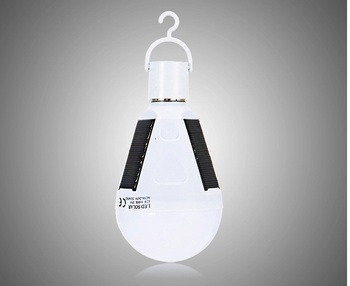 solar emergency bulb 7 W12w rechargeable camping solar hunting emergency bulb light