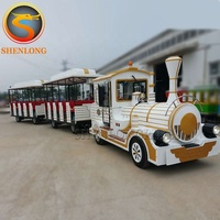 Wonderful Electric Trains Amusement Park Rides Trackless Tour Dotto Train For Sale