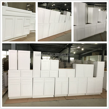 China Factory Custom Make Face Frame Birch Wood Kitchen Cabinet White Shaker
