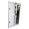 aluminum frame tempered glass tilt turn opening window door