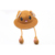 Cute Rabbit Ear Unisex Plush Knitted Airbag Pop-up Summer Beanie Bucket Hat The Ear Can Move Up and Down