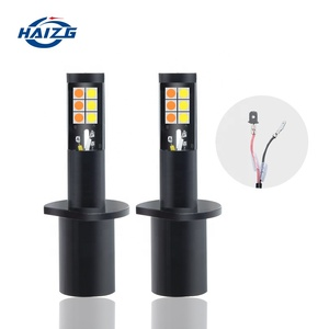 H1 3030 12SMD Car LED Fog Lights Bulbs Dual Color fog lamp All-in-One Conversion Kits led fog 3000K Yellow 6000K White