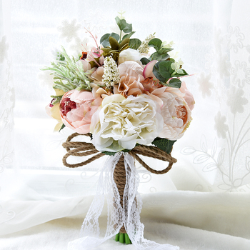 Romantic Artificial Hand Holding Wedding Flower bridal flower holder bouquet