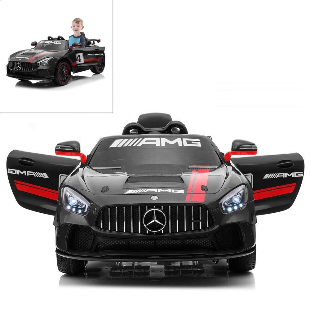 Black Licensed Mercedes Benz AMG GT4 12V Kids Ride On Car with Remote Control