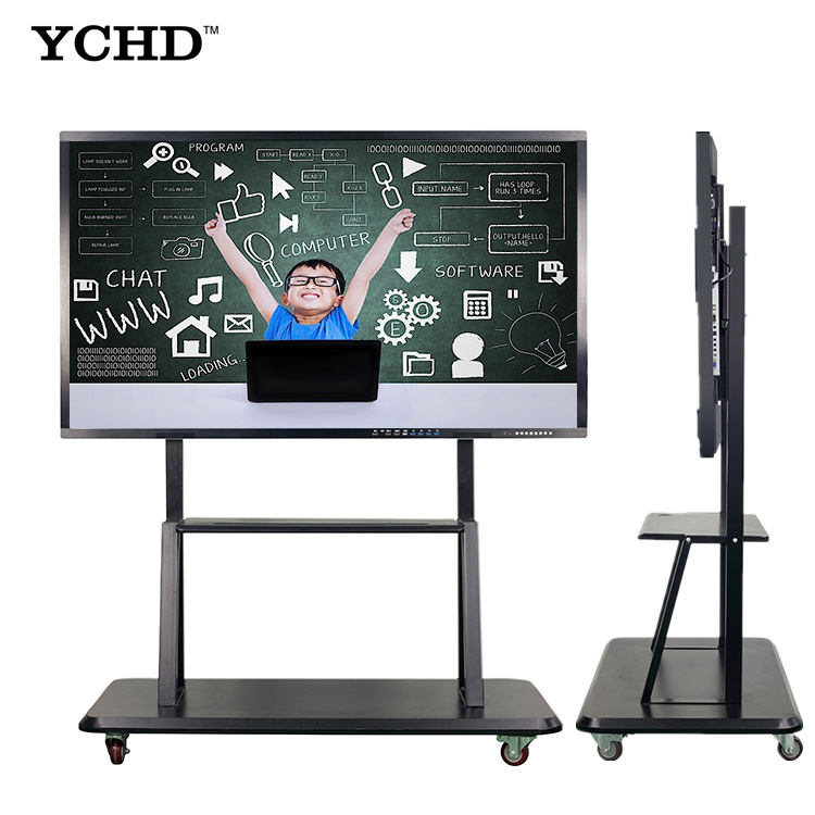 65 Inch All In One Whiteboard Interactief Touch Screen Smart Board Wandmontage Lcd Monitor
