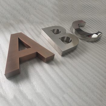 Galvanized Metal Letters Channel Letters Sign