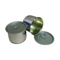 65X30mm 100ml Silver Color Medicine Jar Metal Can With Easy Open Lid & Plastic Cap