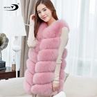 Fur Vest Fox Fur Liner Womens Faux Fur Vest Factory Wholesale Fashion Cheap Low MOQ Artificial Women Long Faux Fox Fur Vest