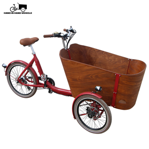china supplier 3 wheel electric cargo tricycle with open wooden box