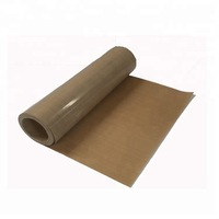 0.18mm X 25mm brown fiberglass ptfe coated non adhesive ptfe tape