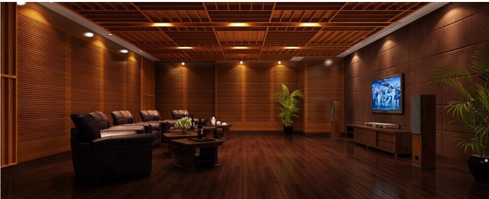 Audio Room Sound Proof Wooden Diffuser Wall Panel Buy