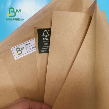 High Stiffness 50G TO 400G Uncoated Brown/ Natural Kraft Paper for Making Bags