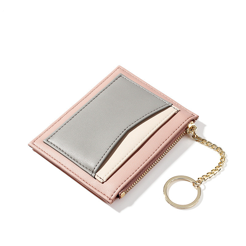 New design women's <strong>wallet</strong> with keychain and clear card pockets