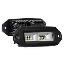 40 W Rectangle LED Polong Banjir <span class=keywords><strong>Cree</strong></span> 4 LED Kerja Lampu Bar Offroad Backup Mengemudi Lampu Kabut untuk Jeep ATV UTV SUV Truk Perahu
