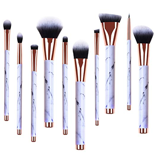10 pcs Professionelle Marmor Make-Up Pinsel Blush Foundation Pinsel