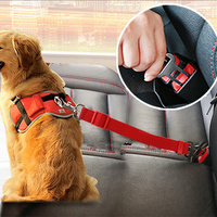 Vehicle Car Multicolor Removable Adjustable Nylon Dog Safety Car Seat Belt
