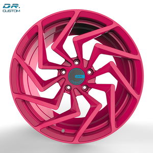 custom color 15x7 alloy deep concave rims for pink car