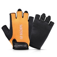 Custom fashion unisex cycling half finger fitness gym weight lifting gloves