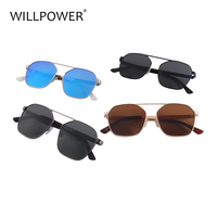 Retro round metal frame sunglasses variety of colors can choose TAC lens UV 400