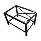 Professional Manufacturer Supplied Custom Table Metal Furniture Frame With Black Coating