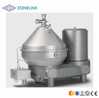 Industrial automatic disc 3 phase milk water separator for cream degreasing