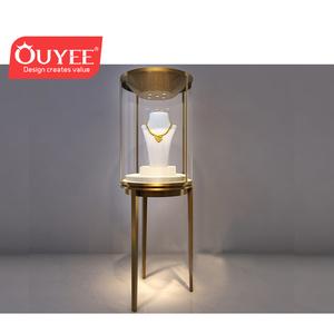 500d4b09b73 Luxury Modern Glass Display Showcase Jewelry Shop Furniture LED Lighting  Jewelry Showcase For Gold Jewelry Shop