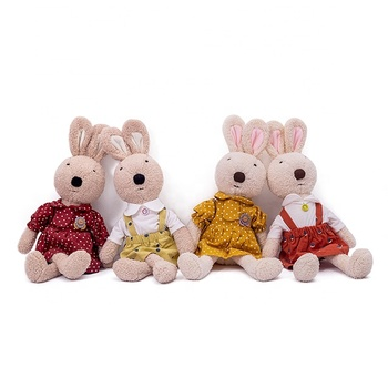 baby girl first toys plush girl doll baby comforter rabbit