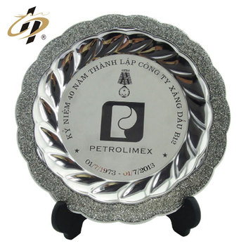 Shuanghua High quality popular metal pure silver custom souvenir medal plate with holder