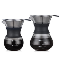 pour over coffee dripper set glass pour over coffee maker
