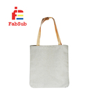 2019 New Blanks linen Tote Bag for Heat Press Customized linen shopping bag